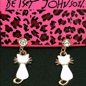BETSEY JOHNSON~ Cat Silhouette Stud Earrings